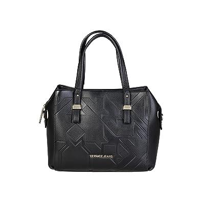 Jeans E1VQBBY2_75472 Damen Handtaschen Leder Grau Versace zR08qH4Pe