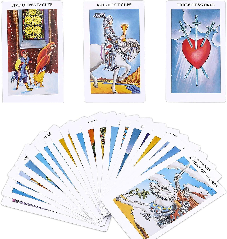 IEKEODI Tarot Cards Deck, Classic Design Tarot Deck with Guidebook - 78-Card Kit - Easy to Shuffle, Durable Tarot Cards for Beginners & Expert Readers
