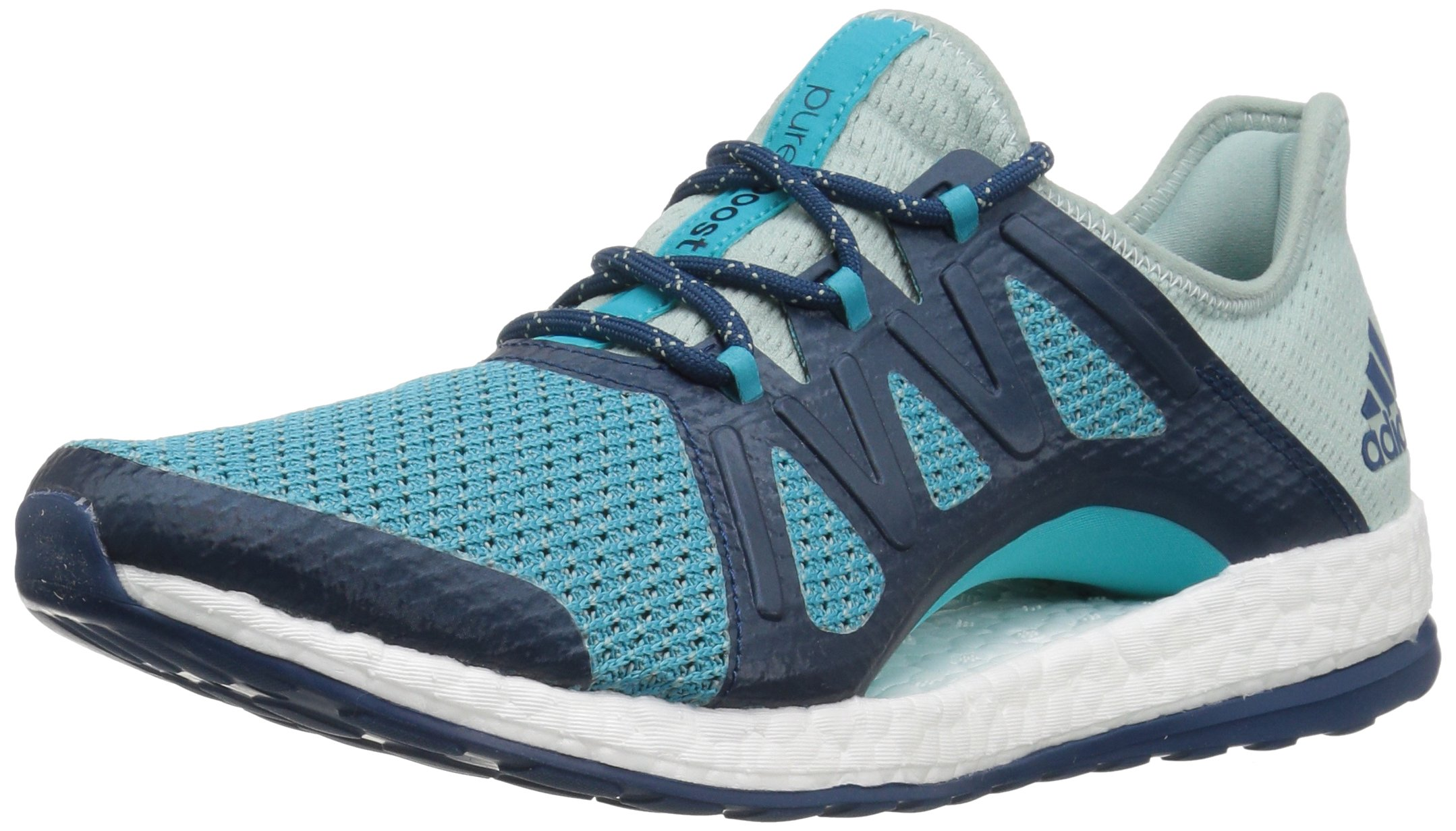 adidas Performance Women's Pureboost Xpose, Tactile Green/Energy Blue/Blue Night, 10 Medium US