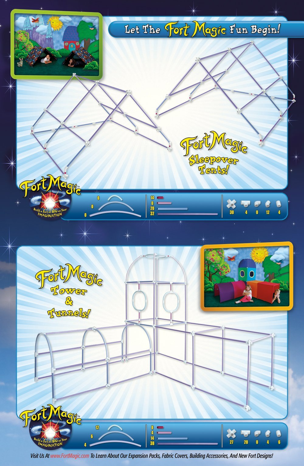 Fort Magic: Fort Building & Construction Toy Kit by Fort Magic (Image #3)
