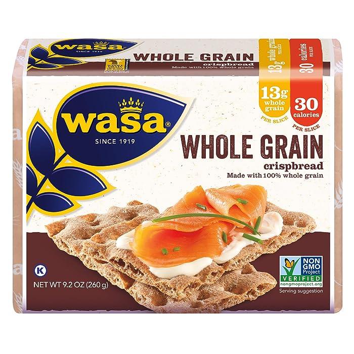 Wasa Whole Grain Crispbread, 9.2 Ounce (Pack of 12)