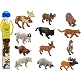 Plastoy - 6970-04 - Figurine - Animal - Tubo Figurine - Animal De La Foret
