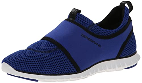 Cole Haan Women's Zerogrand Slip-On Fashion Sneaker, Bristol Blue Mesh/Black /