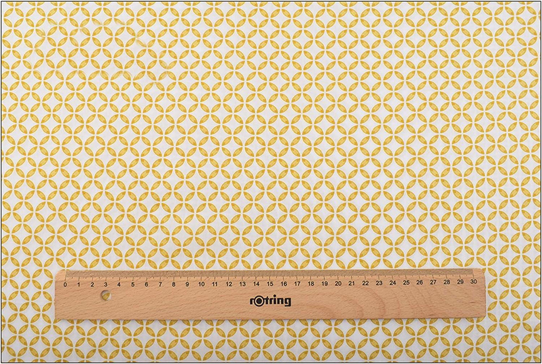 Lot de 8 coupons de tissu en coton pour patchwork floral Jaune 46 x 56 cm