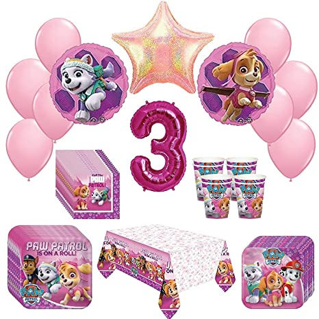 Amazon Girl Pups Paw Patrol Skye Everest 3rd Birthday Party Pack 52 Piece Set Toys Games