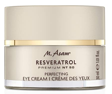 M. Asam, Resveratrol NT50, Anti-Aging Perfecting Eye Cream, Smoothing, Rejuvenating Fragrance Free – 1 Ounce