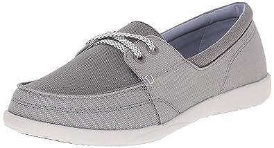 62c76f87341 crocs Women s Walu II Canvas Skimmer W Boat Shoe