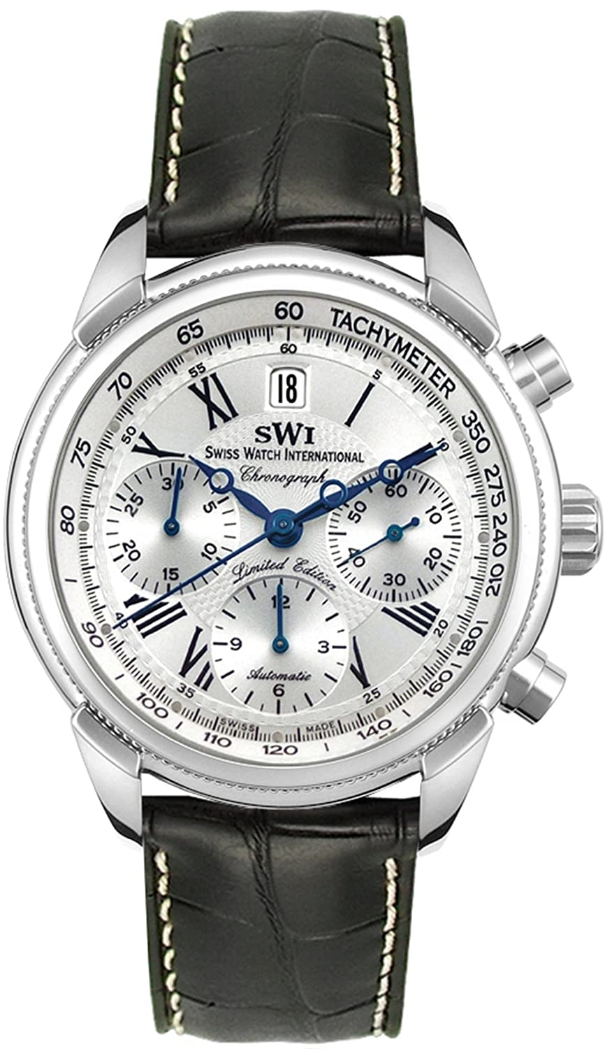 Amazon.com: Swiss Watch International Limited Edition Chronograph Stainless Steel Mens Watch A9244.S.S.A1: Swiss Watch International: Watches