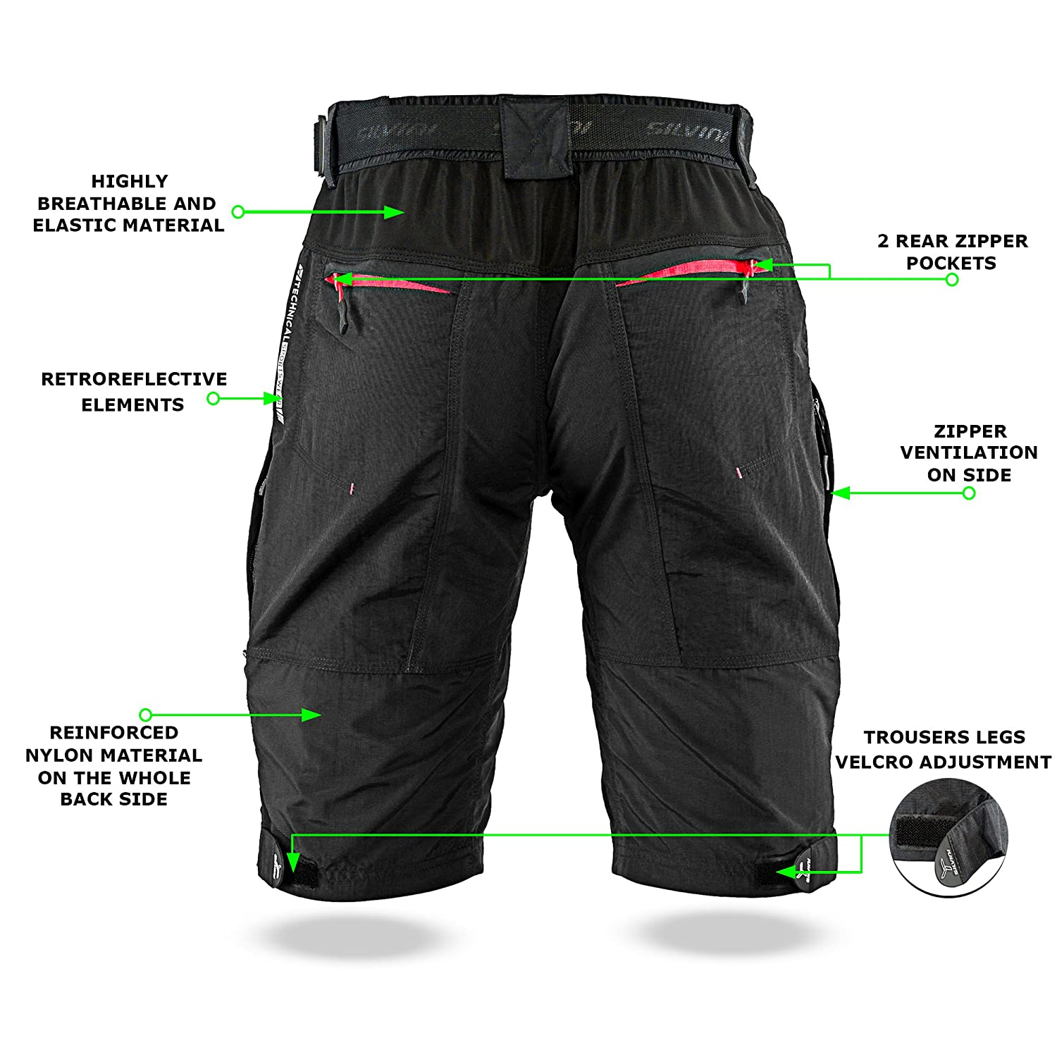 SILVINI MTB Shorts Rango with 6 Pockets for Mens Mountain Bike Cycling and All Outdoor Activities