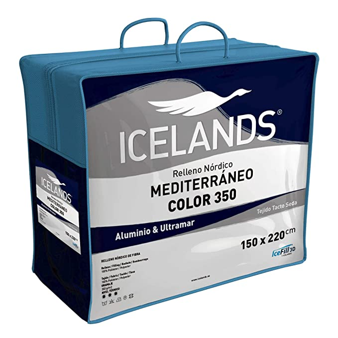 Habita Home EDREDON Azul-Gris SINTET. Iceland (350G) Cama 180 (260x240cm) Color Aluminio/Ultramar: Amazon.es: Hogar