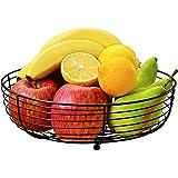 CAXXA Countertop Fruit Bowl, Wire Basket for Fruits, Breads, Vegetables ,Snacks, BLACK