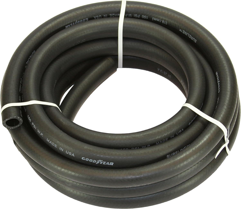 """Abbott Rubber X1110-1002-25 EPDM Ag Spray Hose, 1"""", Black"""