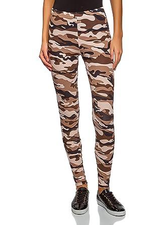 oodji Ultra Femme Legging en Coton Imprimé  Amazon.fr  Vêtements et ... 9c8c8ac630a