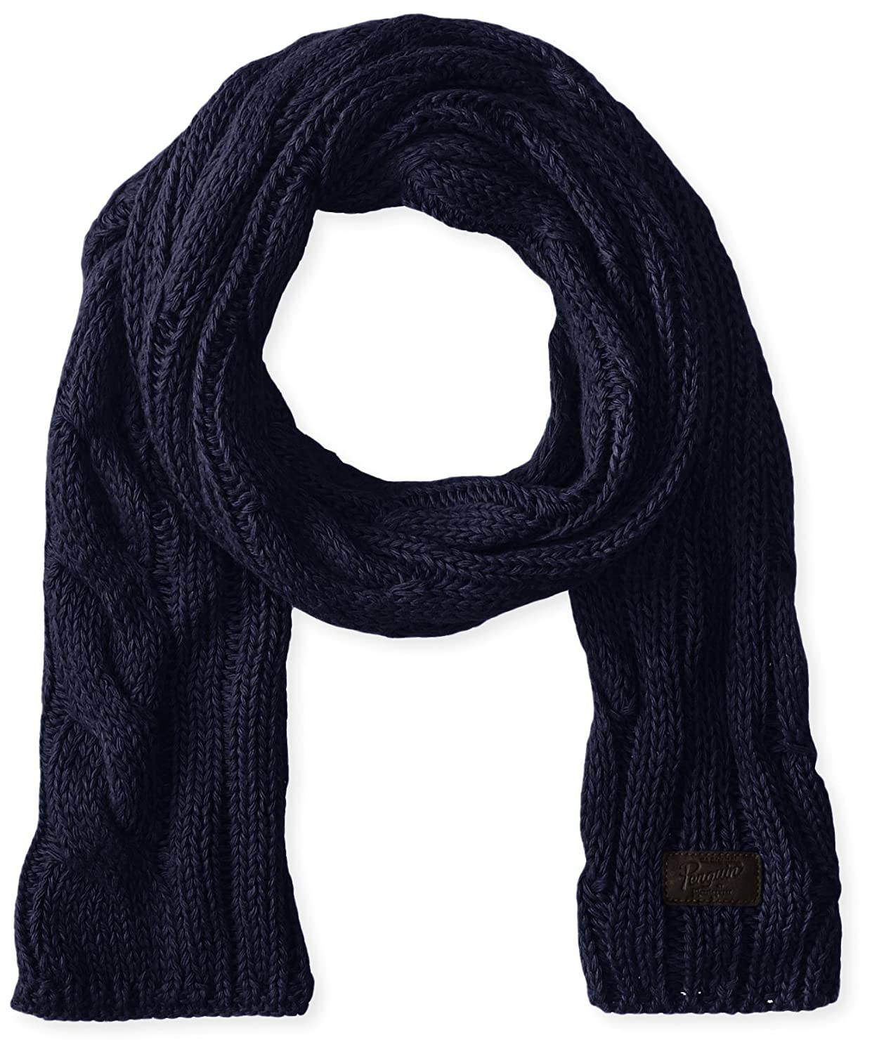 Original Penguin Men's Desmond Scarf Dark Sapphire One Size PNH0389