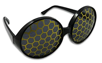 d10e8c12dd3 Image Unavailable. Image not available for. Color  Bumble Bee Sunglasses  Bug Eye Glasses (Yellow)