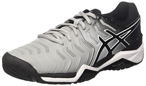 68badeadf0a70 ASICS Men's Mid Grey Black White Tennis Shoes-9 UK India (44 EU) (10 ...
