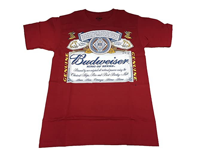 a79bb4a76 Amazon.com: Budweiser King of Beers Label T Shirt: Clothing