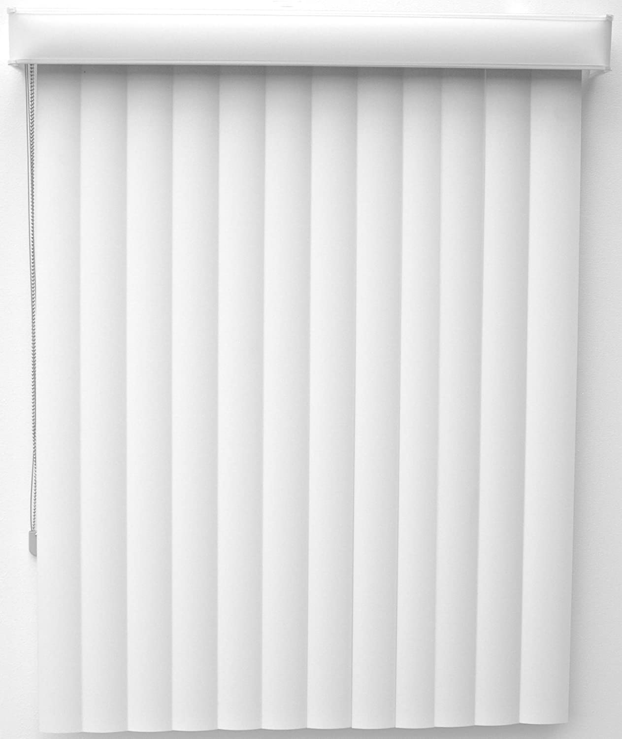 New Age Blinds Curved Vertical Blinds, One Way Opening, Outside Mount, 96 by 84-Inch, Polar