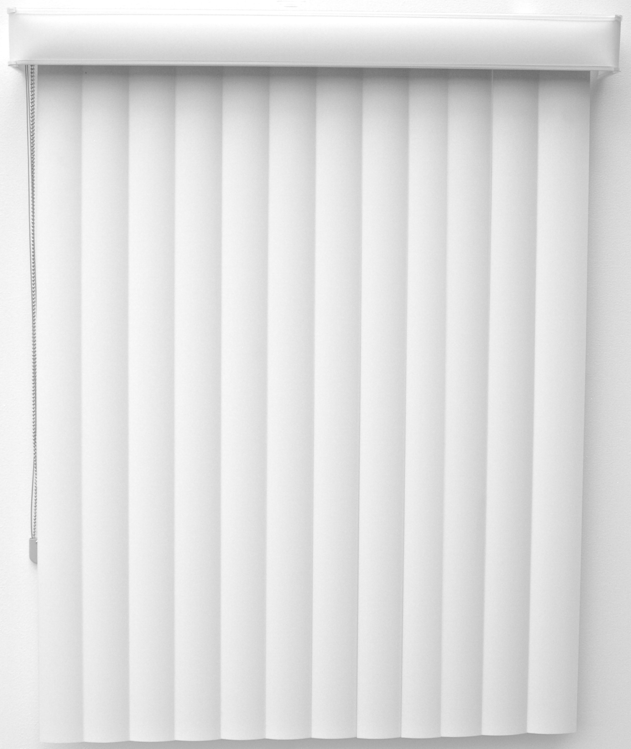 New Age Blinds Curved Vertical Blinds Center Opening, Outside Mount, 120 by 84-1/4-Inch, Polar