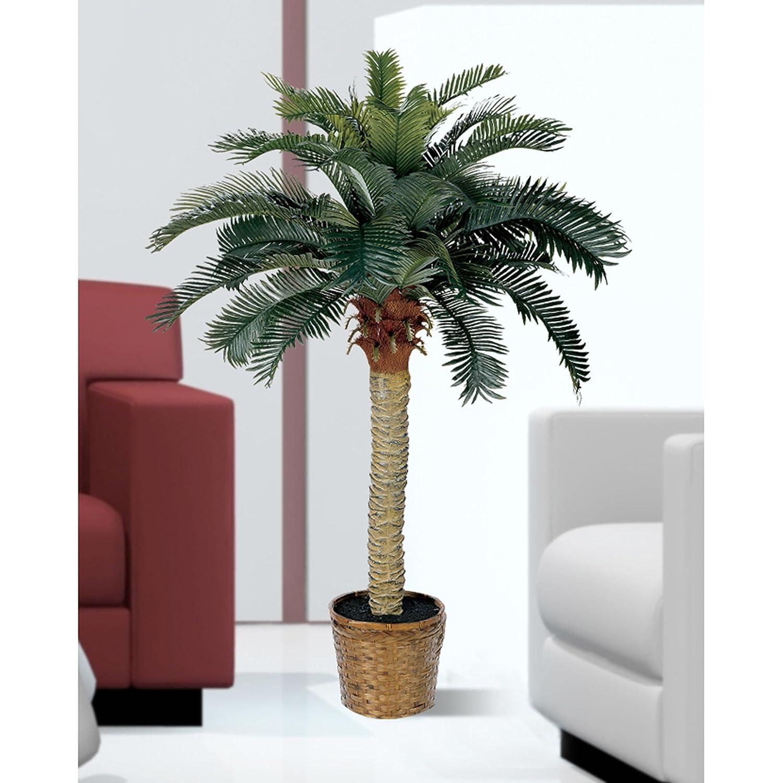 Amazon Nearly Natural 5043 Sago Silk Palm Tree 4 Feet Green