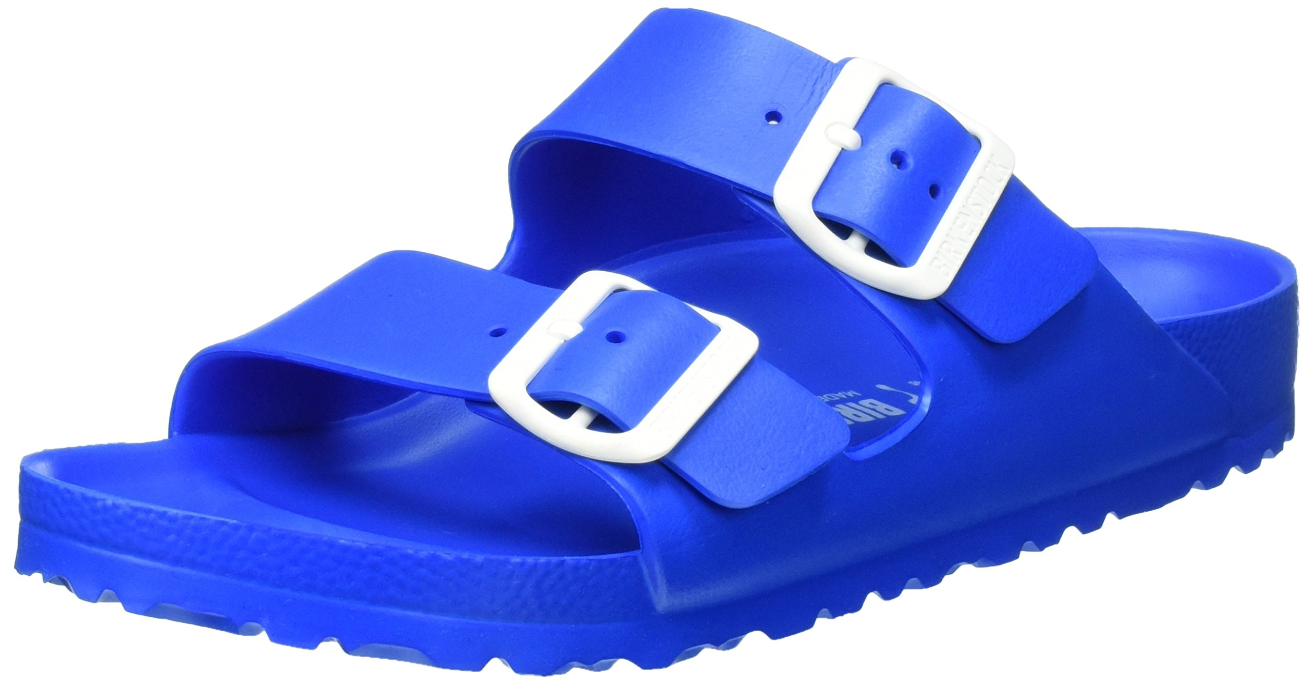 Birkenstock Unisex Arizona EVA Dual Buckle Sandals, Scuba Blue - EU 38 - US L7 M5 Narrow
