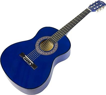Music Alley MA-34-BL - Guitarra acústica, color azul: Amazon.es ...
