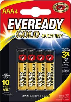 Energizer 627439 - Pila alcalina AAA, pack de 4 unidades (LR03): Amazon.es: Salud y cuidado personal