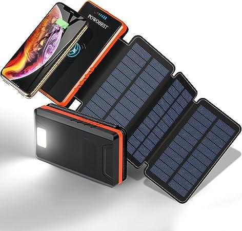 POWOBEST 20000mAh Solar Power Bank