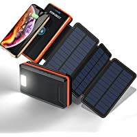POWOBEST Solar Power Bank,Solar Phone Charger,20000mAh,Outdoor Portable Power Bank,Portable External Battery,Wireless…