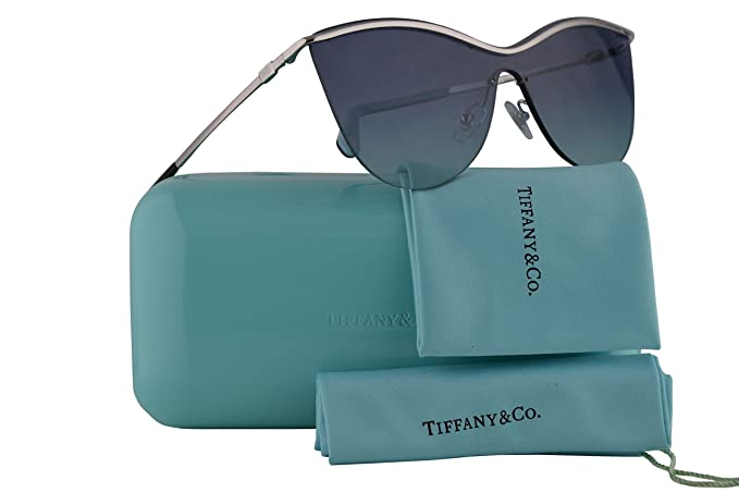 2a20de48ab44 Image Unavailable. Image not available for. Color  Tiffany   Co. TF3058  Sunglasses Silver w Dark Blue Gradient Lens ...