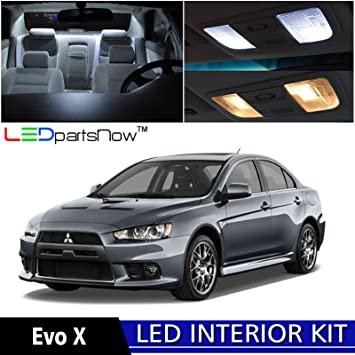 ledpartsnow 2007 2015 mitsubishi lancer evolution evo x led interior lights accessories replacement package kit