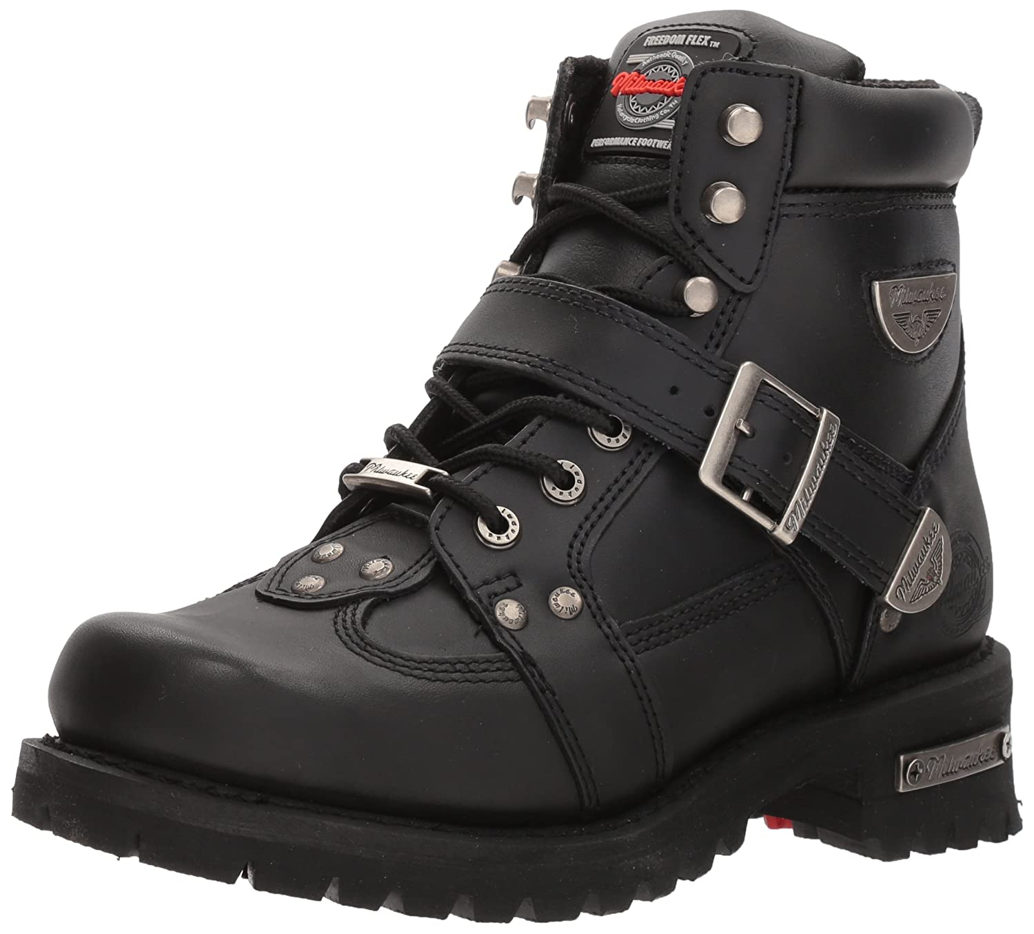 790c4c4a7cb Milwaukee Motorcycle Clothing Company Road Captain Leather Women's  Motorcycle Boots (Black, Size 9C)