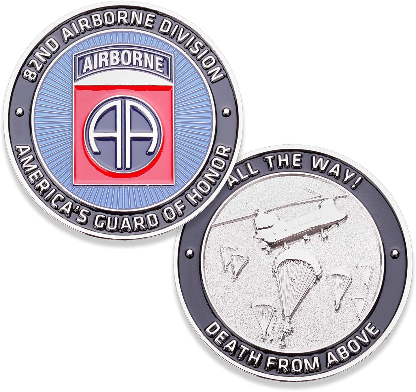 82nd U.S. Army Airborne Challenge Coin! Amazing Eighty Second US Army Custom Coin, 82nd Airborne Military Challenge Coin! Designed by Military Veterans! Officially Licensed Product!