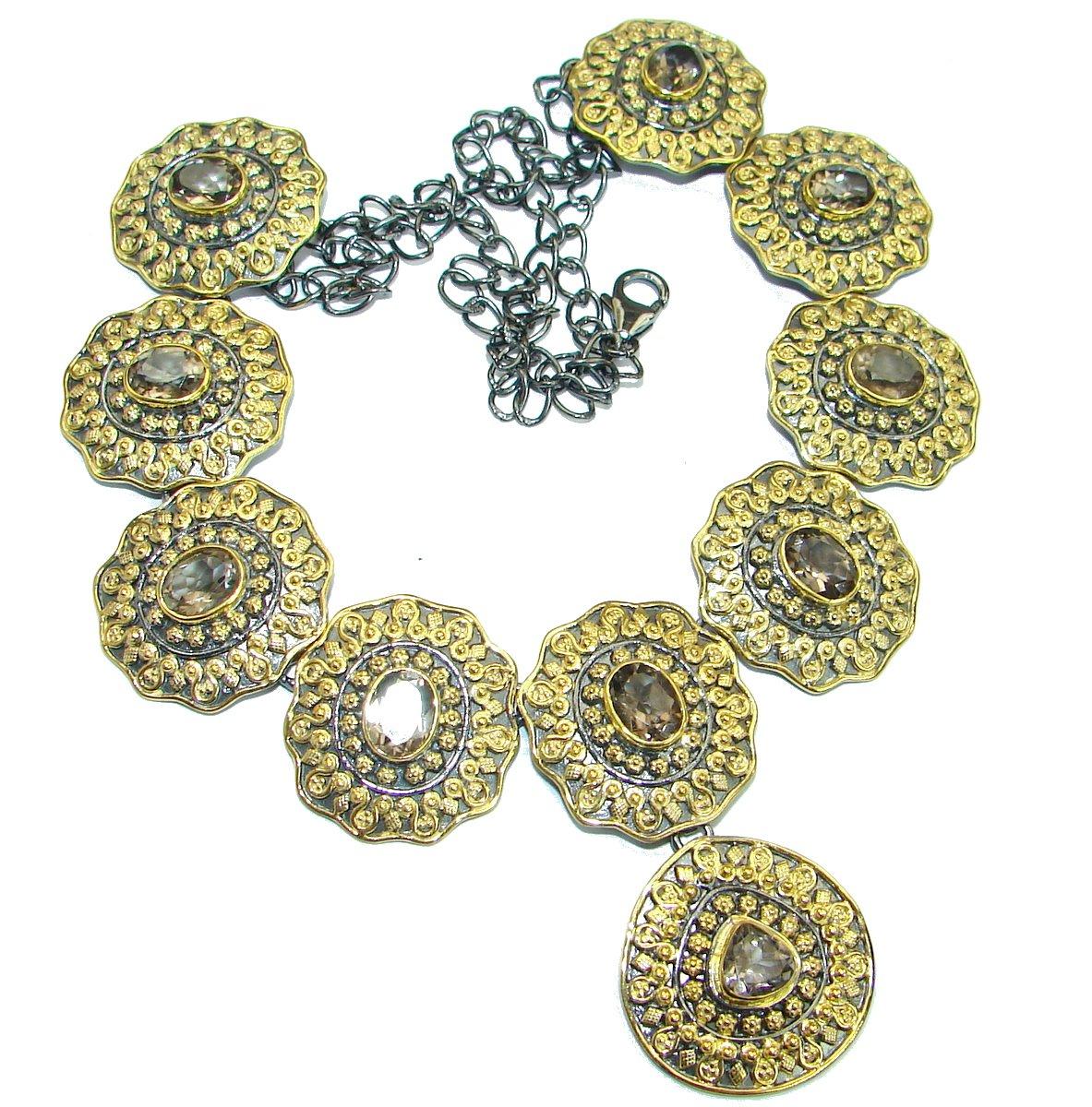 SilverFury Quartz Women 925 Sterling Silver Necklace - FREE GIFT BOX