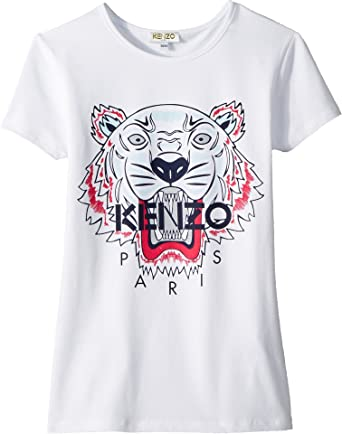 bfb4c1f1f Amazon.com: Kenzo Kids Womens Classic Tiger Tee Shirt (Big Kids): Clothing