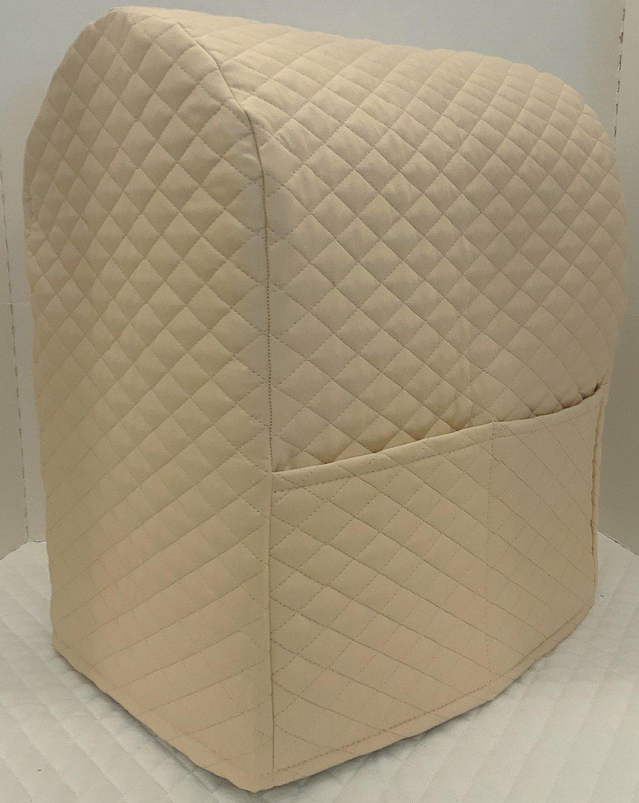 Penny's Needful Things Quilted Cover Compatible with Kitchenaid Stand Mixer (Tan, 7qt Proline/8qt Commercial)