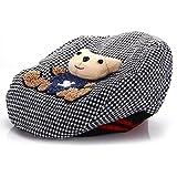Chapeau Béret Bonnet Casquette Carreaux Noir pour Enfant Bébé Fille Garçon