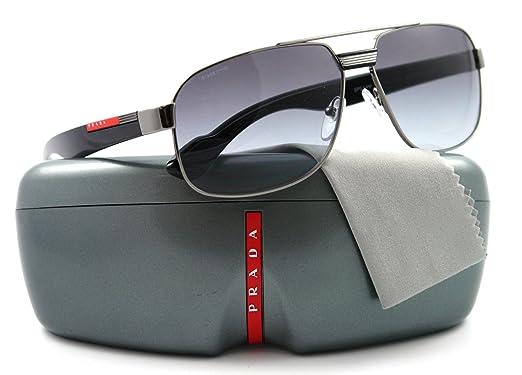 Amazon.com: Prada anteojos de sol SPS 54 M Negro 5 AV-3 M1 ...