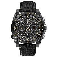 Deals on Bulova Precisionist Mens Quartz Black Nylon Strap 46mm Watch
