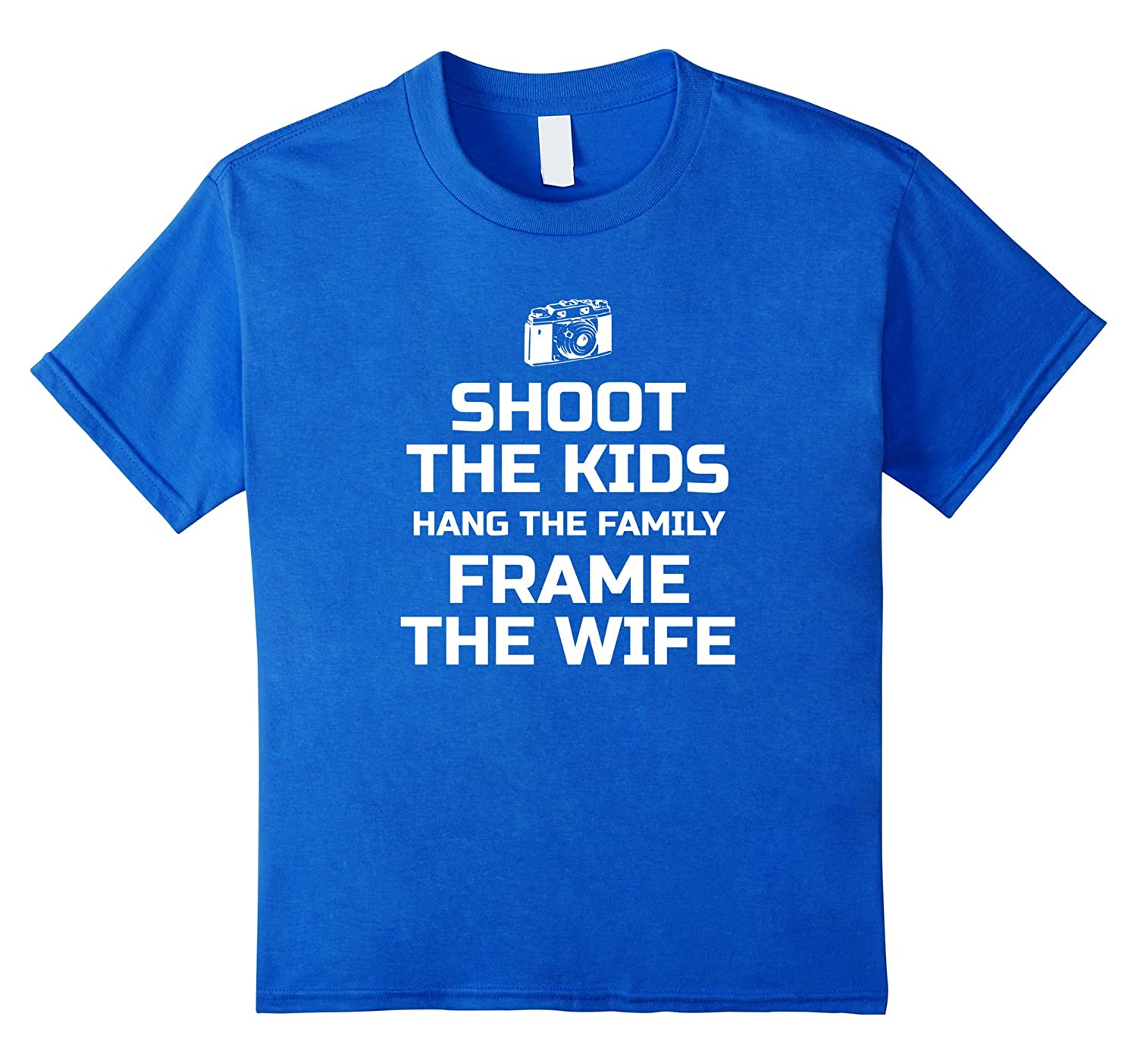 Amazon.com: FUNNY Camera T Shirt for Photographers, Shoot Hang Frame ...