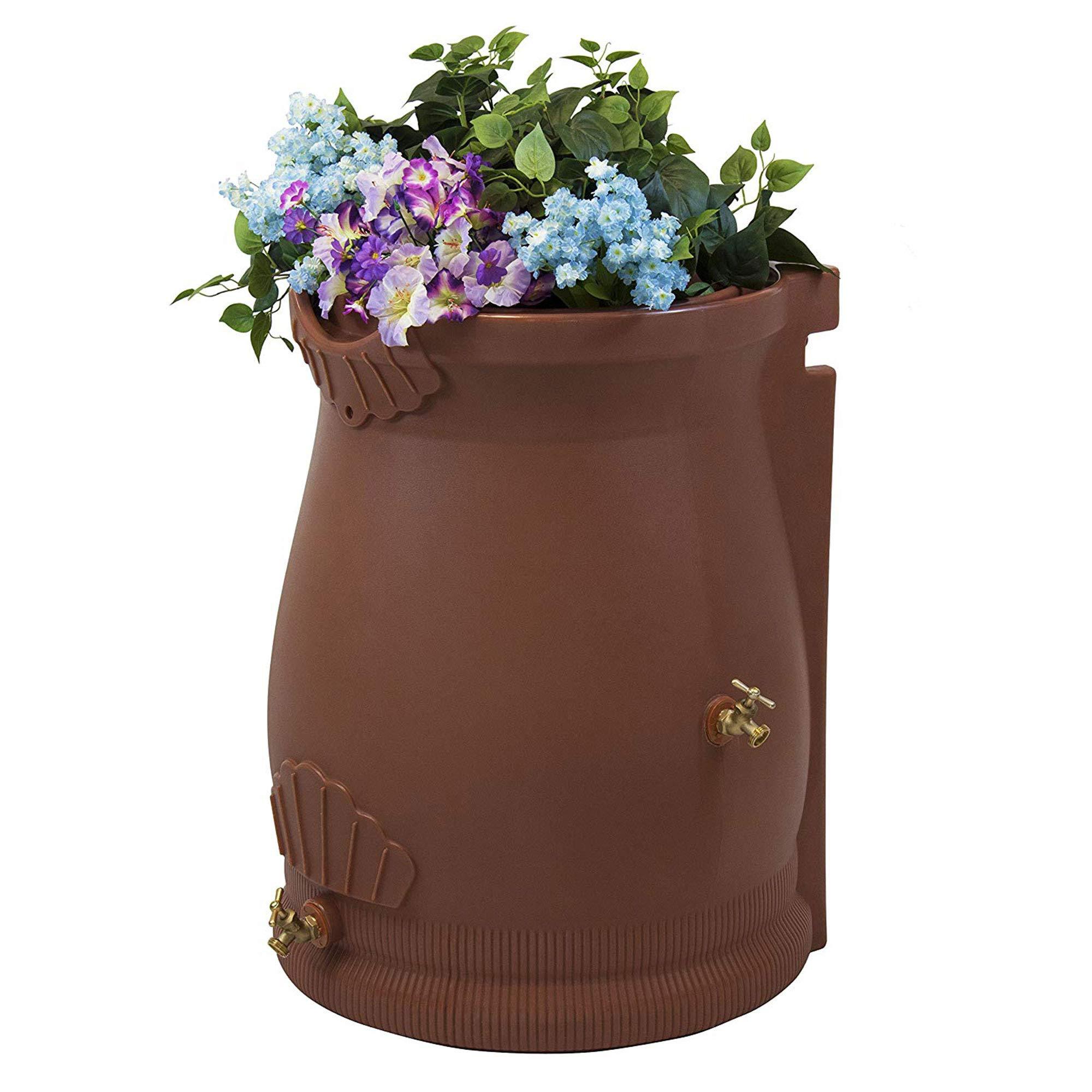 Good Ideas RWURN50-TC Rain Wizard Rain Barrel Urn, 50 gallon, Terra Cotta by Good Ideas