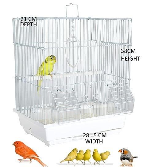 WUNDAPETS - Jaula de Viaje para pájaros (tamaño pequeño), diseño ...