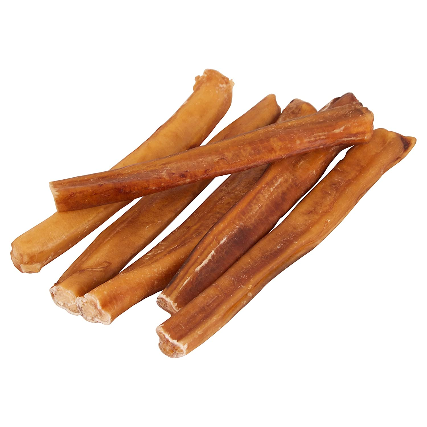 Pawstruck 9 Straight Bully Sticks for Dogs X-Large Thickness All Natural Odorless Bully Bones Long Lasting Chew Dental Treats Best Thick Bullie Sticks for K9 or Puppies Grass-Fed Beef
