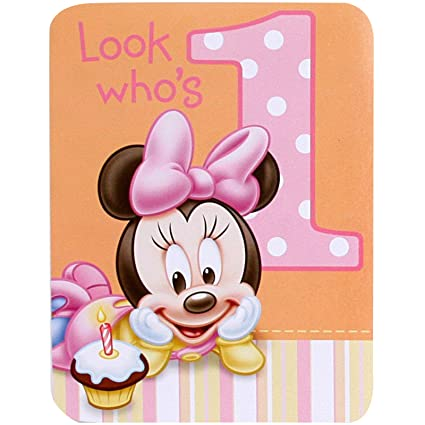 amazon com baby minnie mouse 1st birthday invitations 8 pkg disney