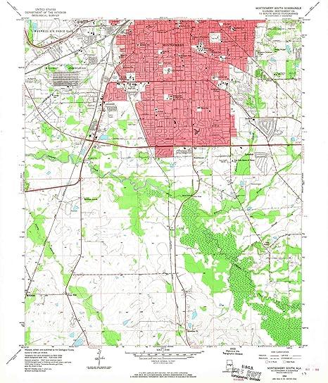 Amazon.com : YellowMaps Montgomery South AL topo map, 1 ...