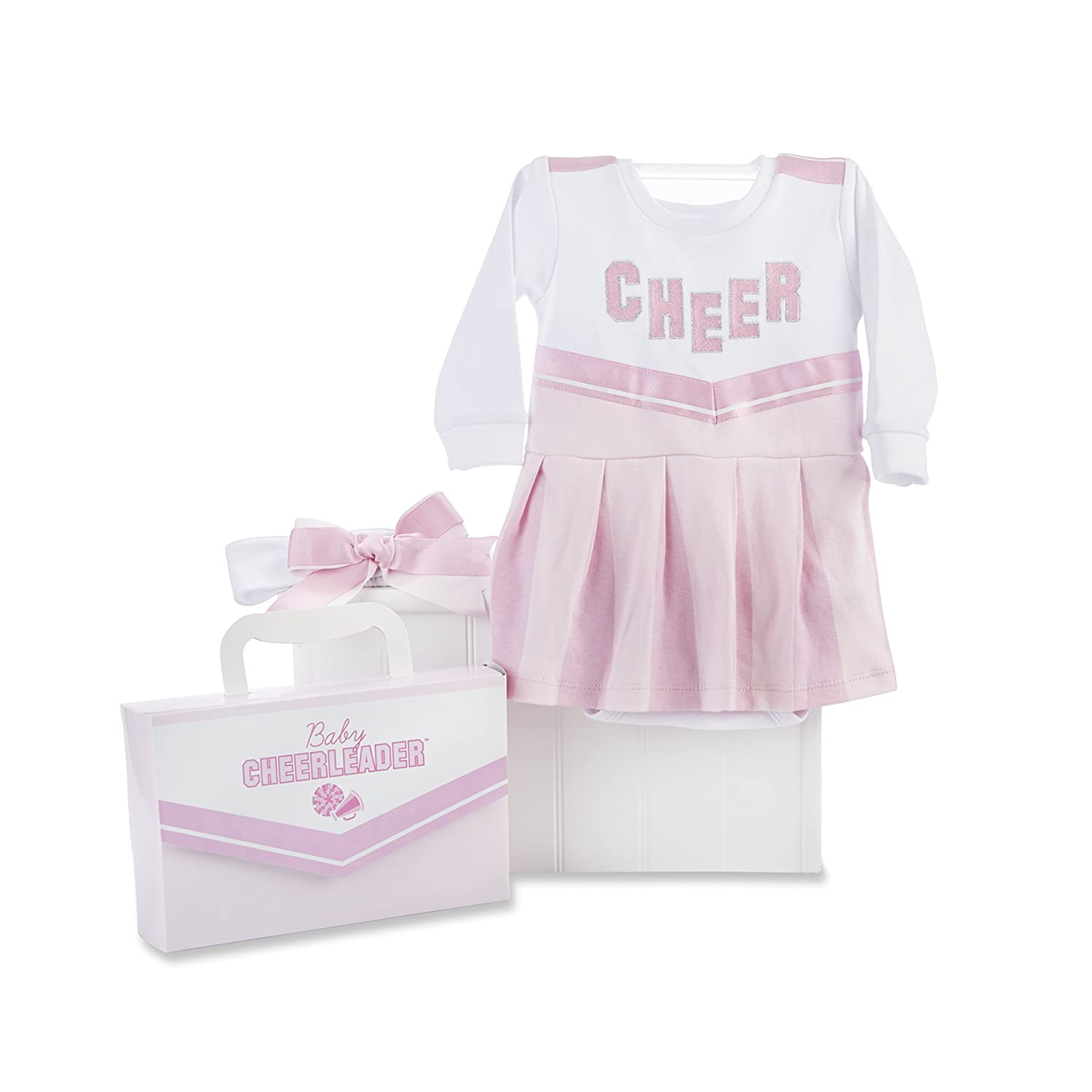Baby Aspen Big Dreamzzz Baby Cheerleader Two-Piece Layette Set, Pink/White, 0-6 Months BA16010CL