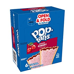 Kellogg's Pop-Tarts, Breakfast Toaster Pastries, Frosted Cherry, 22oz (72 Count)