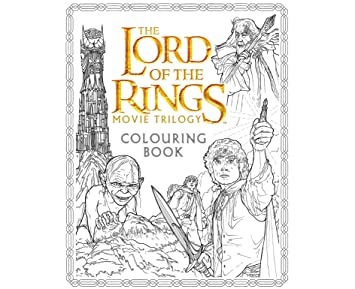 Lord of The Rings Movie Trilogy Colouring Book: Amazon.co.uk: Office ...