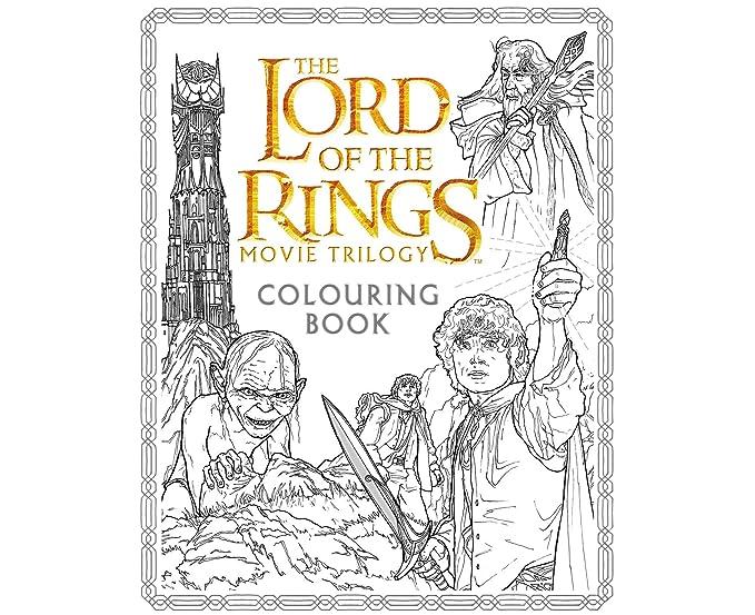 Película de El Señor de los anillos, trilogía libro para colorear ...
