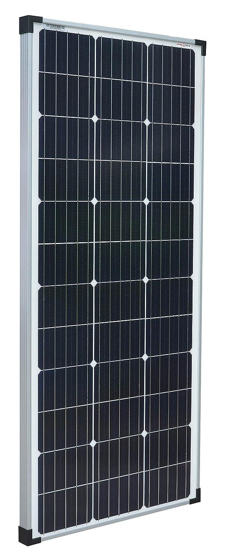 enjoysolar Monokristallines 24 V panel solar ideal para jardín, caravana (100 W/24 V)